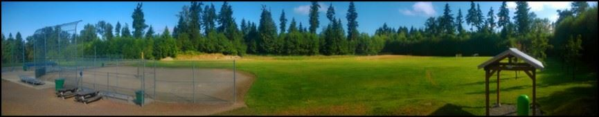 Panoramic Photograph of Big Rock Ball Fields Park