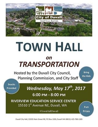 2017 Transportation Town Hall Poster
