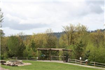 Interpretive Platform / Gazebo / Firepit - view looking SW